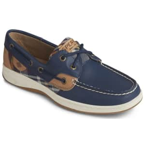 Sperry Women's Bluefish Plaid Boat Shoes for $34