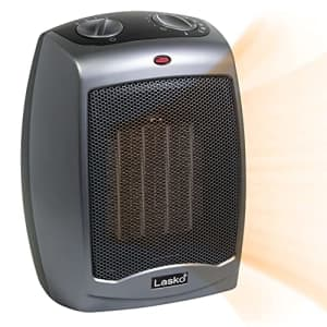 Lasko 754201 Small Portable 1500W Electric Ceramic Space Heater with Tip-Over Safety Switch, for $44
