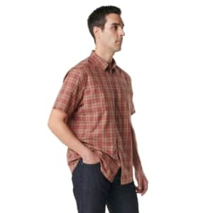5.11 Tactical Men's Hunter Plaid Short Sleeve Shirt for $15