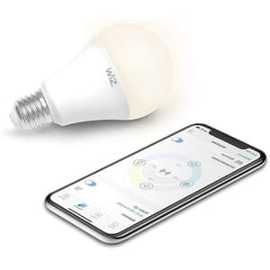 WiZ 60W EQ A19 Dimmable Smart LED Bulb for $4