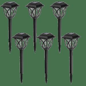 Gigalumi LED Solar Pathway Light 6-Pack for $30