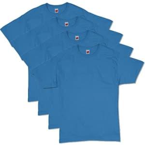 Hanes Men's Essentials Short Sleeve T-Shirt 4-Pack for $10