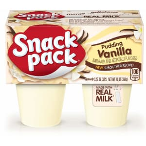 Snack Pack 3.25-oz. Pudding Cup 4-Pack: 74 cents via Sub & Save