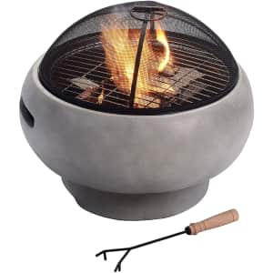 Peaktop Concrete Round Charcoal and Wood Burning Fire Pit for $131
