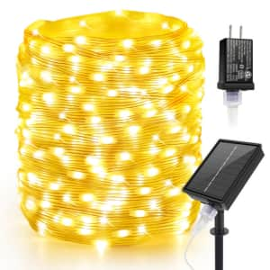 164ft Solar & Plug in 2-in-1 LED Fairy Lights for $28