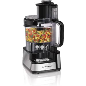 Hamilton Beach 12-Cup Stack and Snap Food Processor for $60