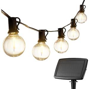 Venusop 27-Foot Solar String Lights for $16