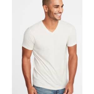 Old Navy Men's Soft-Washed V-Neck T-Shirt for $4