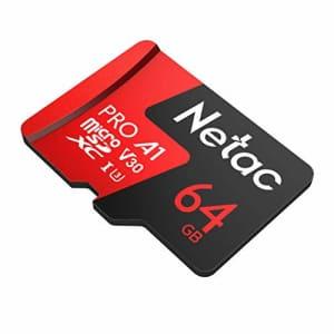 Netac 64GB P500 Pro microSDXC CL10 UHS-I U3 V30 A1 Memory Card w/SD Adapter for $18