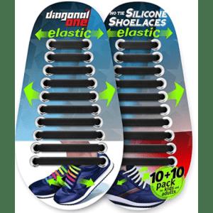 Diagonal One No Tie Shoelaces for $8