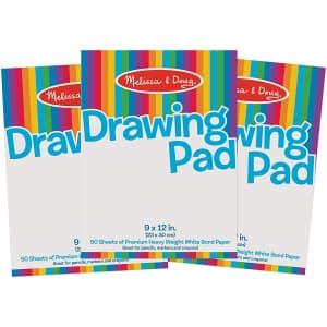 Melissa & Doug Drawing Paper Pad Bundle 3-Pack for $11
