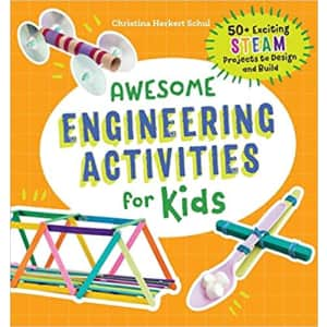 """""""Awesome Engineering Activities for Kids"""" Paperback Book for $7"""