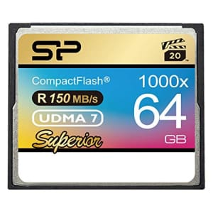 Silicon Power 64GB Hi Speed 1000x Compact Flash Card (SP064GBCFC1K0V10) for $88