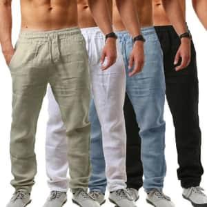 Men's Drawstring Yoga Pants: 2 for $10