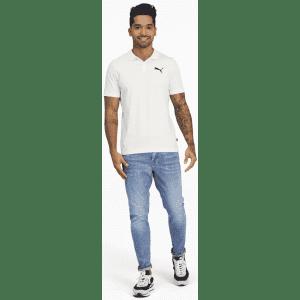 PUMA Men's Essentials Jersey Polo for $10