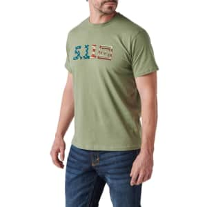 5.11 Tactical Men's Legacy US Flag Tee for $14