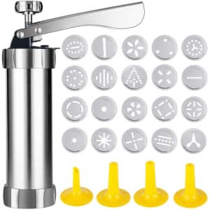 Cqing Stainless Steel Cookie Press for $10