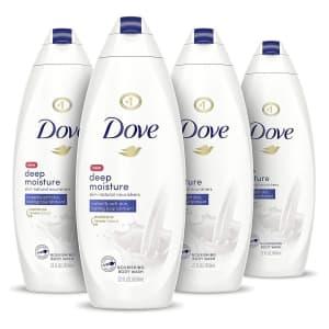 Dove 22-oz. Body Wash 4-Pack for $13 via Sub & Save