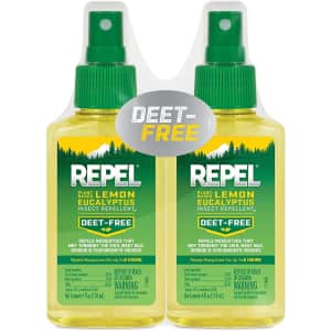 Repel Plant-Based Lemon Eucalyptus Insect Repellent 2-Pack for $20