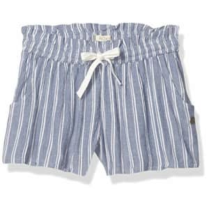 Roxy Girls' Little Sunny Road Beach Short, True Navy Birdy Stripes, 4 for $32