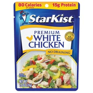 StarKist Premium White Chicken 2.6-oz. Pouch 12-Pack for $15 via Sub & Save