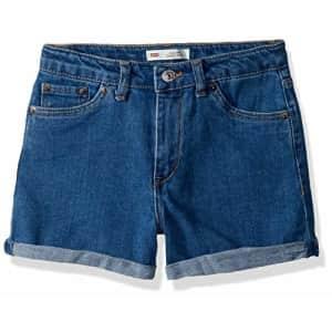 Levi's Girls' Big High Rise Denim Shorty Shorts, Richards, 8 for $23