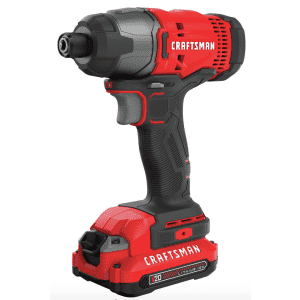 """Craftsman V20 1/4"""" Variable Speed Cordless Compact Impact Driver Kit for $59"""
