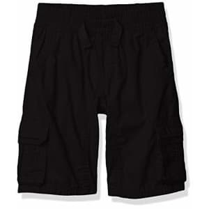 Southpole - Kids Boys' Little Belted Mini Canvas Cargo Shorts in, Black Elastic, Small for $13