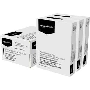 Amazon Basics Multipurpose Copy Printer Paper 3-Ream Case for $15 via Sub & Save