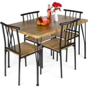 Best Choice Products 5-Piece Dining Table Set for $210