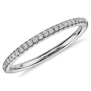 Blue Nile 1/10-TCW Diamond Petite Micropave Ring for $632