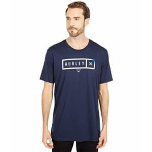 Hurley Men's Bars Logo Short-Sleeve T-Shirt, Obsidian, L for $26