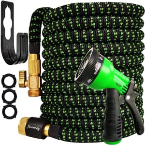 Junredy 75-Foot Expandable Garden Hose Kit for $16