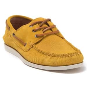 Frye Men's Briggs Leather Boat Shoes for $60