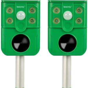 Diaotec Solar Ultrasonic / Flashing Light Animal Repeller 2-Pack for $35