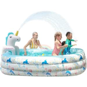 Doctor Dolphin Inflatable Pool for $30