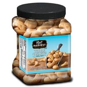 Nut Harvest Lightly Salted Whole Cashews 24-oz. Jar for $15