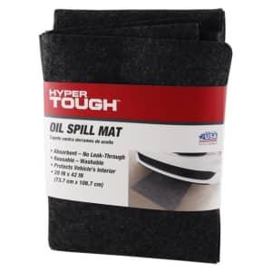 """Hyper Tough 29"""" x 42"""" Reusable Oil Spill Mat for $11"""