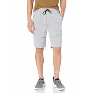 Southpole Men's Tech Fleece Shorts, Heather Grey Reflective, Large for $15