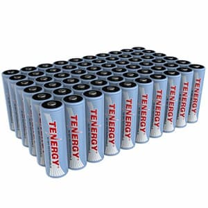 TenergyAA Rechargeable Battery, High Capacity 2500mAhNiMH AA Battery, 1.2VDouble A Batteries60-Pack for $60