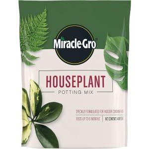 Miracle-Gro 4-Quart Houseplant Potting Mix for $4