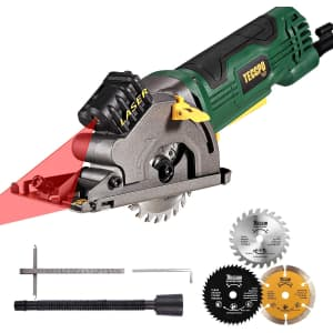 Teccpo 4.8-Amp Compact Circular Saw with Laser Guide for $42