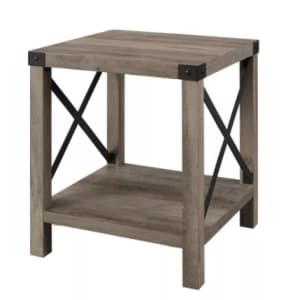 Saracina Home Sophie Rustic Farmhouse X Frame Side Table for $112