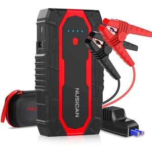 Nusican 12V 1,500A Car Battery Jump Starter for $50