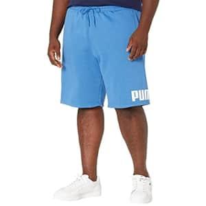 "PUMA Men's Big & Tall Big Logo 10"" Shorts BT, Star Sapphire/White, 4XLT for $24"