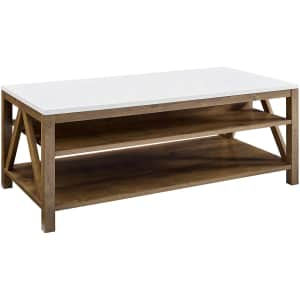 """Welwick Designs 48"""" A-Frame Farmhouse Coffee Table for $190"""