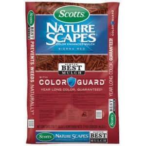 Scotts Nature Scapes Color-Enhanced Mulch 1.5-Cu. Ft. Bag for $3