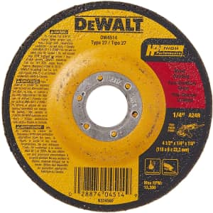 "DeWalt 1/4"" Thick Grinding Wheel for $2"