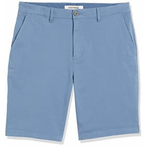 """Amazon Brand - Goodthreads Men's Slim-Fit 9"""" Inseam Flat-Front Comfort Stretch Chino Shorts, for $25"""