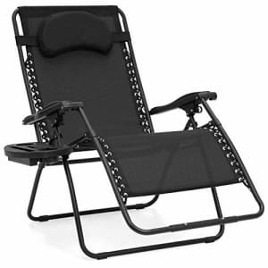 Best Choice Products Oversized Zero Gravity Chair, Folding Outdoor Patio Lounge Recliner w/Cup for $149